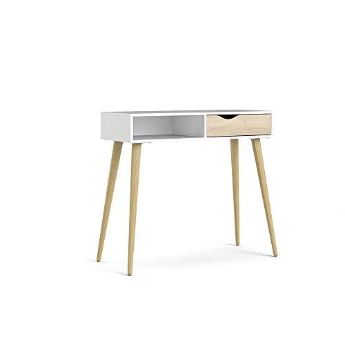 Schreibtisch Oslo Eiche Struktur Weiss Beistelltisch Tisch Konsolentisch