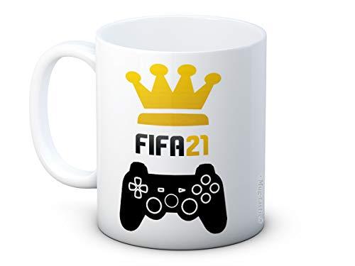 FIFA 21 König oder Königin - Auszeichnung Keramik Kaffeetasse Becher