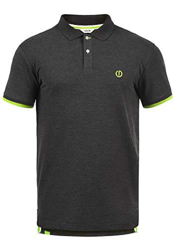 !Solid BenjaminPolo Herren Poloshirt Polohemd T-Shirt Shirt Mit Polokragen, Größe:S, Farbe:Dark Grey Melange (N8288)