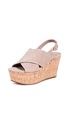 Diane von Furstenberg Women's Juno Wedge Sandals, Powder, Tan, 9.5 Medium US