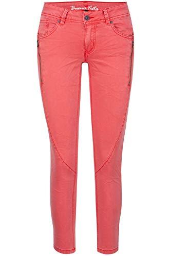 Buena Vista Damen Jeans Malibu-Zip K 7/8 Stretch Twill Flame Scarlet - S