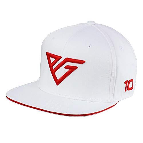 Gorra con visera plana de color blanco con diseño de la marca Sports Merchandising B.V. Red Bull Racing F1 Pierre Gasly