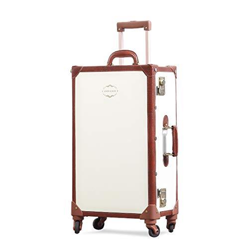 Uniwalker キャリーケース かわいい トランクケース TSAロック搭載 レトロ 四輪 360度回転 軽量 復古主義 キャリーバッグ 可愛い s型 スーツケース 機内持込可