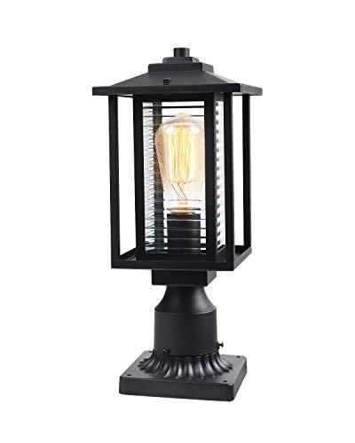 JAZAVA Outdoor Post Light Fixture One-Light
