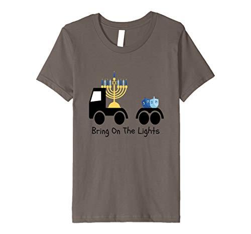 Kids Hanukkah Gelt for Children- Chanukah For Boys Truck Premium T-Shirt