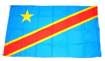 Fahne / Flagge Kongo Kinshasa NEU 90 x 150 cm Flaggen