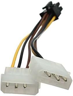Toptekits 2 unisex X 4-pin Molex IDE to Graphic 6 Direct stock discount Power Pci-e Pin Card