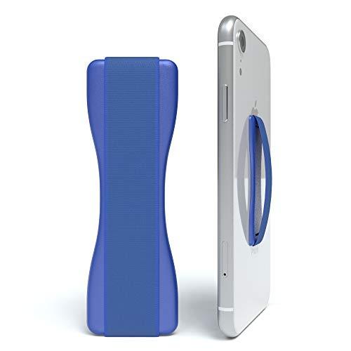 EAZY CASE Premium Smartphone Finger Halterung – Selbstklebender Handy Griff, Smartphonehalter, Selfie Handyhalter, Fingerhalterung - geeignet für e-Reader und kleine Tablets, Blau