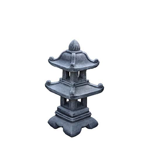 gartendekoparadies.de Herrliche Steinlaterne Pagode Steinlampe aus Steinguss, frostfest