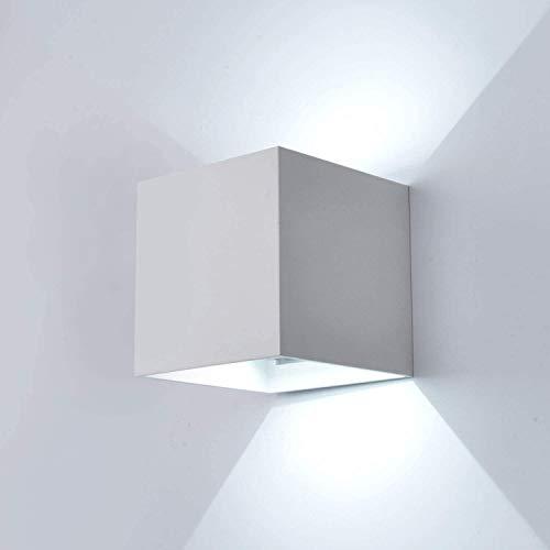Raelf 1 PCS LED-Wandleuchte 12W kühlen IP65 weißer LED-Wall Washer Embedded-Wand-Licht im Innen- und Außen Modernen weißen Wand Badewanne Lampe im Wohnzimmer, Wandleuchte Werden kann [Energieklasse A