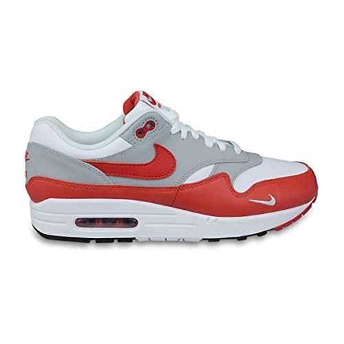 Nike Air MAX 1 LV8, Zapatillas para Correr Hombre, White Martian Sunrise Wolf Grey Black, 42.5 EU