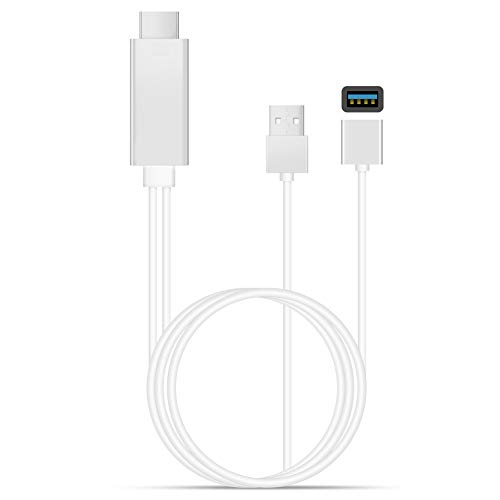 SUNSEATON HDMI-kabel, HDTV-kabels Voor TV-projectie, HD 1080P-Ondersteuning, Compatibel Met iPhone/iPad/Android-telefoon enz. (Wit)