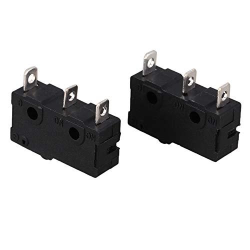 Katigan Negro Interruptor de limite actuador de boton pulsador 2piezas