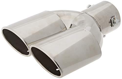 Simoni Racing enjoliveur d'échappement Ovale Double INOX - 82x71xL230mm - Montage ->58mm