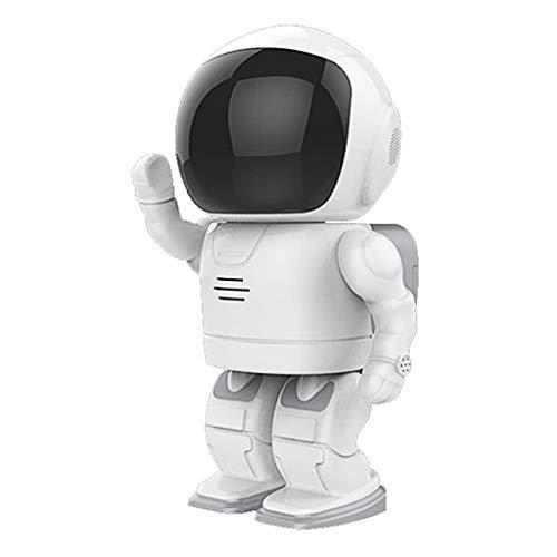 WLPT Cámara inalámbrica de Seguridad para Robots, Cámara de vigilancia IP Robot HD 1080P Seguridad WiFi Casa Monitor con Detección de Movimiento Audio bidireccional Vision Nocturna,8GB