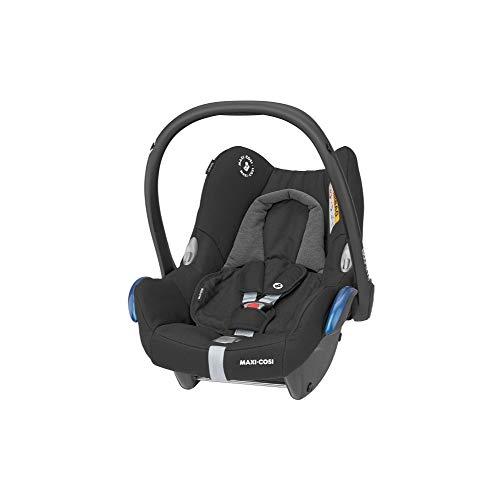 Maxi-Cosi CabrioFix Babyschale, Baby-Autositze Gruppe 0+ (0-13 kg), nutzbar bis ca. 12 Monate, passend für FamilyFix-Isofix Basisstation, Essential Black (schwarz)