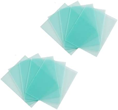 10 PACK Welding Protective Lens Replacement 4 5 X 5 25 inch 114 mm x 133 mm Transparent Cover product image