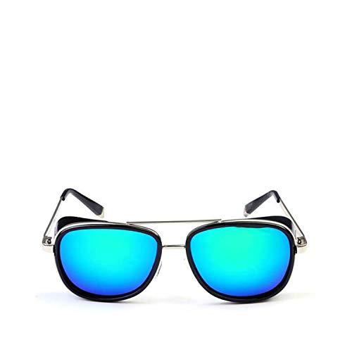 FGRYGF-eyewear Sport-Sonnenbrillen, Vintage Sonnenbrillen, NEW Steampunk Tony Stark Iron Man 3 Sunglasses Men Mirrored Designer Brand Women Glasses Vintage Red Lens Sun Glasses UV400 HD3023 06
