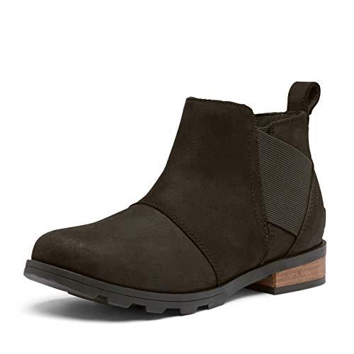 Sorel Women's Emelie Chelsea Boot - Light and Heavy Rain - Waterproof - Black, Black - Size 10.5