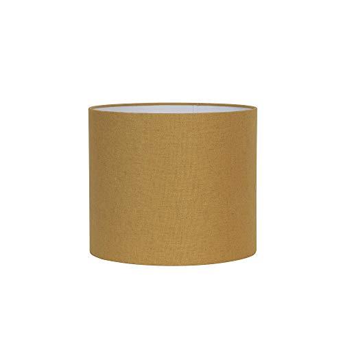 Light & Living Lampenschirm Zylinder Livigno - Ockergelb - Ø40 x 30 cm - Baumwolle/Leinen