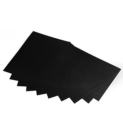 Fotokarton, Bastelkarton schwarz, 50 Blatt, DIN A4, hochwertige Qualität, 300 g/m²