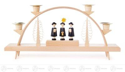 Schwibbogen mit Kurrende, für Kerzen d=14mm Breite x Höhe x Tiefe 32,5 cmx15 cmx5 cm NEU Erzgebirge Lichterbogen Fensterbild