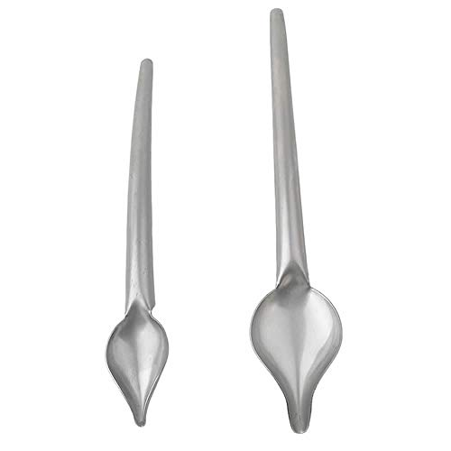 RAYNAG Set of 2 Stainless Steel Saucier Drizzle Spoon Chef Culinary Drawing Spoons Baking Tool
