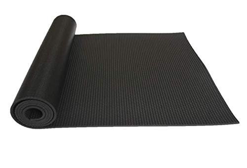 NAXIAOTIAO Yoga Schwarze Matte PVC-Yogamatte hoher Dichte Rutschfeste, Wasserdichte und langlebige Umwelt-Yoga-Matte,Black