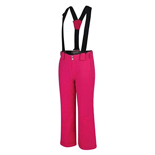 Dare 2b Kinder Outmove Pant Waterproof & Breathable High Loft Insulated Ski & Snowboard Salopette Trouser , Cyber Pink , 152 cm (11-12 Jahre)