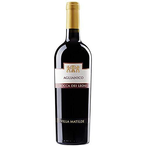 Aglianico del Beneventano Igt | Rocca dei Leoni | Villa Matilde | Vino Rosso della Campania | Bottiglia 75 Cl | Idea Regalo