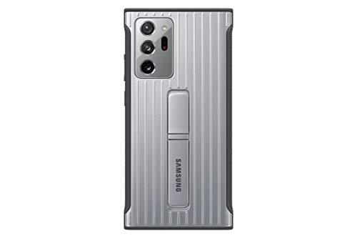 Samsung Protective Standing Smartphone Cover EF-RN985 für Galaxy Note20 Ultra 5G Handy-Hülle, Schutz, ausklappbarer Standfuß, griffige Oberfläche, silber