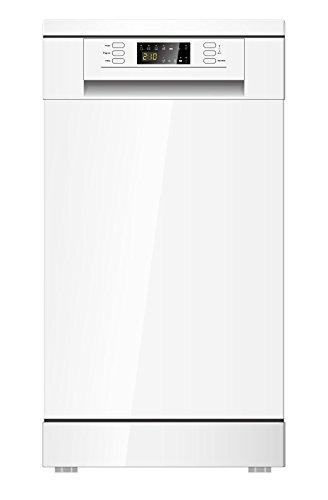 PKM DW9A+7 Weiß Stand-Geschirrspüler, 45 cm, A+, 9 Maßgedecke
