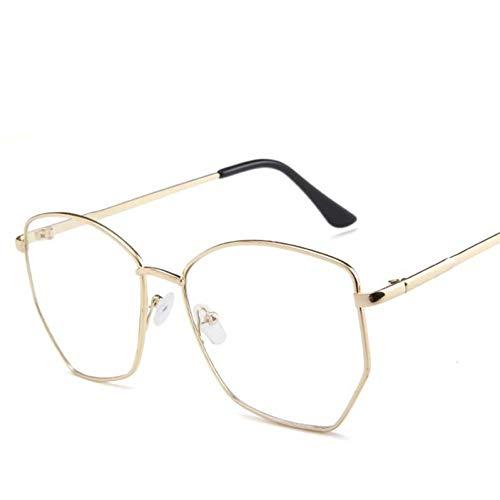 RQMQRL Retro Metall Nerd Brillengestell Für Frauen Männer Vintage Klar Gefälschte Transparente Brillen Hexagon Brillengestell