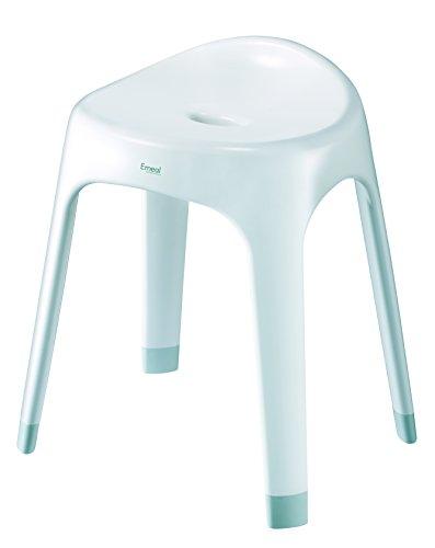 アスベル 風呂椅子 「Emeal」 高さ40cm Ag 抗菌 ホワイト 564499