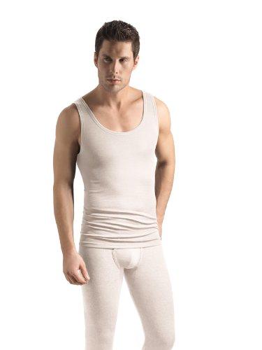 Hanro Herren Woolen Silk Unterhemd, Beige (cygne ), 46 (Herstellergröße: S)