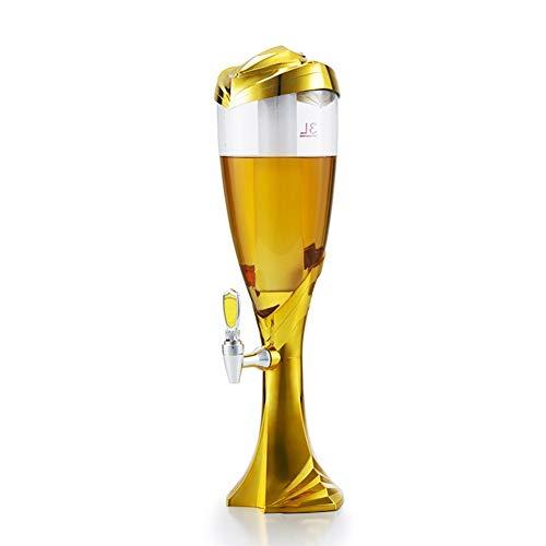 WMM - Dispensador de Cerveza Dispensador de Agua Creativo, Barril de Cerveza de cóctel, cubeta de Hielo Brillante LED, Separador de Vino Adecuado para el Bar Familiar Club Nocturno (Color : Red)