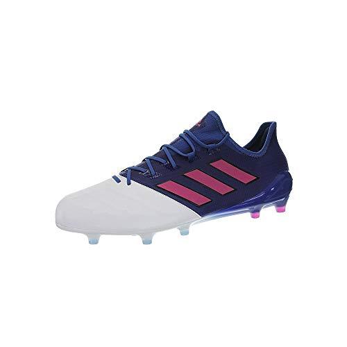 adidas Herren Ace 17.1 Leather Fg für Fußballtrainingsschuhe, Blau (Blu Azul/Rosimp/Ftwbla), 45 1/3 EU