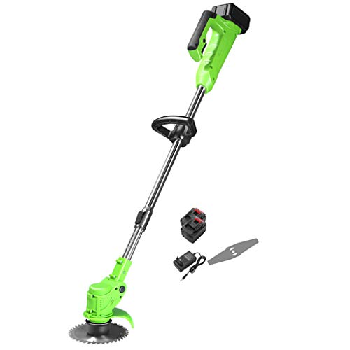 Best Prices! QINXUESHOP Cordless Brush Cutter and Grass Trimmer, Lithium Ion Battery Powered, Includ...