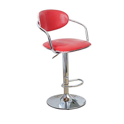 HWH Chaise de salle à manger, bar chaise ascenseur ordinateur chaise de jeu chaise bureau café réception caisse enregistreuse chaise fer art Pu fauteuil 60-80cm Divers (Couleur : H)