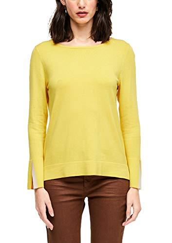 s.Oliver BLACK LABEL Damen 11.001.61.7487 Pullover, Yellow, (Herstellergröße: 40)