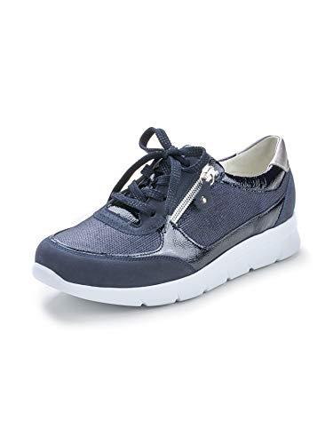 Waldläufer Damen Sneaker Double-Zip Blau Gr. 37.5