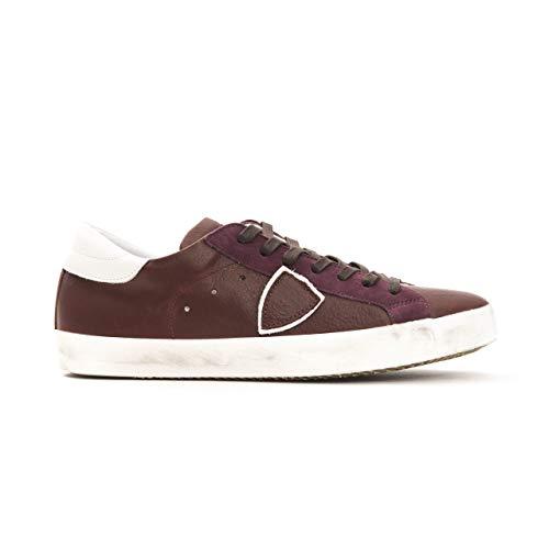 Philippe Model Sneakers Paris L UVEAU Uomo Scarpa 100% Pelle Made in Italy CLLUV086 (Verde, Numeric_44)