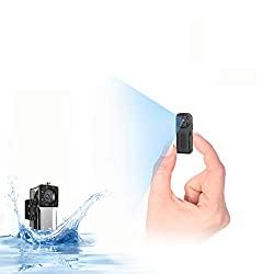 wasserdichte WLAN Mini Kamera,NIYPS Full HD 1080P Akku Überwachungskamera, Mikro WiFi Nanny Cam mit Bewegungserkennung und Infrarot Nachtsicht,Innen/Aussen Wireless Weitwinkel IP Sicherheit Kameras