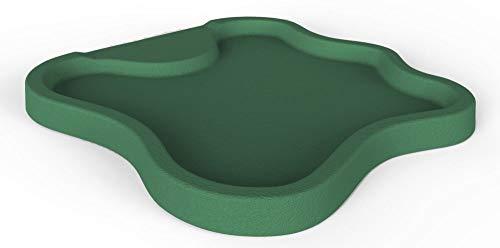 Duschtasse Lake Arkema Polyethylen HD für Montage in accosto und selbsttragend A nach der Typ von Dusche Flach Ausschnitt Arkema D1086016grün