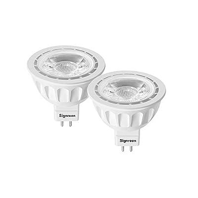 MR16 LED Light Bulbs with GU5.3 Base by Signreen, 50W Equivalent Halogen Bulbs, 12V 5W LED Spotlight Light, 40 Degree, Non-Dimmable