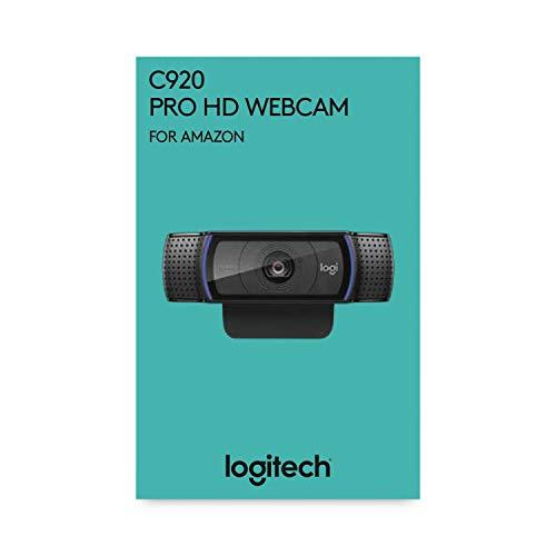 Logitech C920 HD Pro Webcam, Appels Vidéo Full HD 1080p à 30ips, Son Stéréo, Correction d'Éclairage HD, Compatible avec Skype, Google Hangouts, FaceTime, Pour Gamer, Portable/PC/Mac/Android - Noire