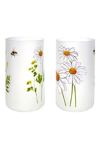 GILDE Windlicht Bienenwelt Glas farbmix Höhe 15 cm, Tischdeko, Geschenk, Beleuchtung