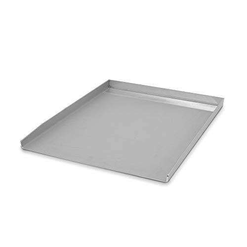 tradeNX Grillplatte aus Edelstahl – Massives Plancha & BBQ Zubehör zum Grillen von Fleisch, Fisch, Gemüse & Obst – 40 x 30 cm