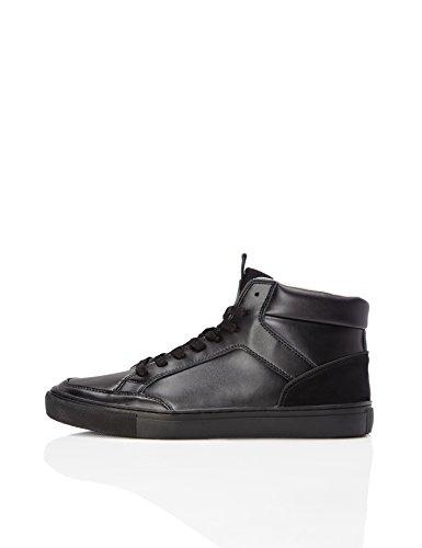 find. Sneaker a Collo Alto Uomo, Nero (Black), 45 EU