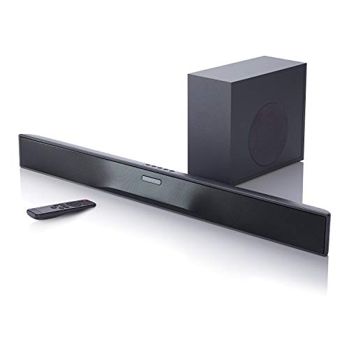 onn Barra de Sonido 32' 2.1 Canales con Subwoofer Inalambrico 80W   Bluetooth   HDMI   ARC   100004118 (Renewed)